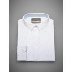 Koszula z mikroprintem slim fit - Biały. Białe koszule męskie Reserved. Za 89.99 zł.