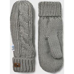 Roxy - Rękawiczki. Szare rękawiczki damskie Roxy. W wyprzedaży za 99.90 zł.