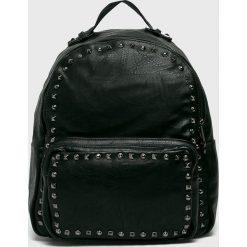 Answear - Plecak. Czarne plecaki damskie ANSWEAR, w paski, ze skóry ekologicznej. W wyprzedaży za 69.90 zł.