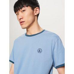 T-shirt z aplikacją - Niebieski. T-shirty męskie marki Giacomo Conti. W wyprzedaży za 29.99 zł.