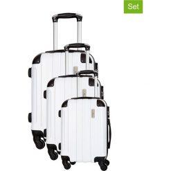 Zestaw walizek w kolorze białym - 3 szt. Walizki męskie Platinium, z materiału. W wyprzedaży za 539.95 zł.