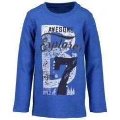 Blue Seven Koszula Chłopięca Z Nadrukiem 122 Niebieski. Niebieskie koszule dla chłopców Blue Seven, z nadrukiem, z bawełny. Za 49.00 zł.