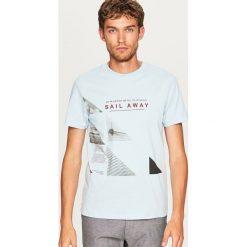 T-shirt z nadrukiem - Niebieski. T-shirty męskie marki Giacomo Conti. W wyprzedaży za 24.99 zł.