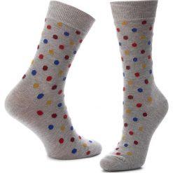 Skarpety Wysokie Unisex HAPPY SOCKS - DOT01-9002 Szary. Szare skarpety męskie Happy Socks, z bawełny. Za 34.90 zł.
