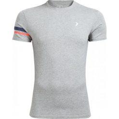 T-shirt męski TSM615 - średni szary melanż - Outhorn. Szare t-shirty męskie Outhorn, na lato, melanż, z bawełny. W wyprzedaży za 24.99 zł.
