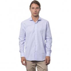 Koszula w kolorze jasnofioletowym. Niebieskie koszule męskie Roberto Cavalli, Trussardi, w kropki, z klasycznym kołnierzykiem. W wyprzedaży za 212.95 zł.
