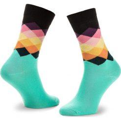 Skarpety Wysokie Unisex HAPPY SOCKS - FAD01-7000 Kolorowy Zielony. Skarpety męskie Happy Socks, w kolorowe wzory, z bawełny. Za 34.90 zł.