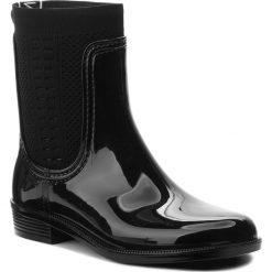 Kalosze TOMMY HILFIGER - Tommy Knit Rain Boot FW0FW02940  Black 990. Czarne kozaki damskie Tommy Hilfiger, z materiału. Za 399.00 zł.