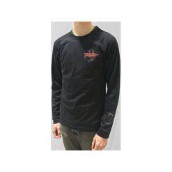 MIRAGE BLACK RAGLAN LONGSLEEVE. Czarne bluzki z długim rękawem męskie Mszz, z aplikacjami, z bawełny. Za 99.00 zł.