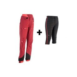 Spodnie narciarskie freeride SFR 900 damskie. Czerwone spodnie materiałowe damskie WED'ZE. Za 749.99 zł.