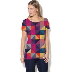 Colour Pleasure Koszulka CP-034 12 fioletowo-różowo-żółta r. XS/S. Bluzki damskie marki Colour Pleasure. Za 70.35 zł.