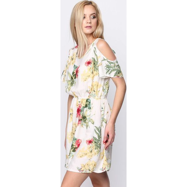 f4b5c3669d Biała Sukienka Revelentless - Białe sukienki damskie marki Born2be ...