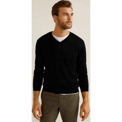 Mango Man - Sweter Willyv. Brązowe swetry przez głowę męskie Mango Man, z dzianiny. Za 199.90 zł.