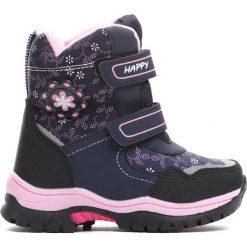 Granatowe Śniegowce Disobedient. Niebieskie buty zimowe dziewczęce Born2be. Za 89.99 zł.