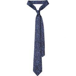 Krawat Granatowy Paisley. Niebieskie krawaty i muchy LANCERTO, paisley, eleganckie. Za 139.90 zł.