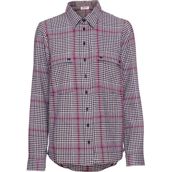 694b6779b4d193 Koszula flanelowa bonprix czarno-biały w kratę - Koszule damskie ...
