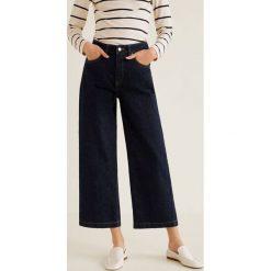 Mango - Jeansy Newculot. Niebieskie jeansy damskie Mango. Za 139.90 zł.