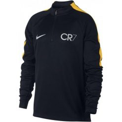 Nike cr7 Y Nk Sqd Dril Top L. Czarne t-shirty i topy dla dziewczynek Nike, z tkaniny. W wyprzedaży za 189.00 zł.