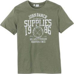 T-shirt z nadrukiem Regular Fit bonprix oliwkowy. T-shirty męskie marki Giacomo Conti. Za 34.99 zł.