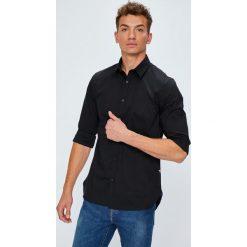 Guess Jeans - Koszula Collins. Szare koszule męskie Guess Jeans, z bawełny, z klasycznym kołnierzykiem, z długim rękawem. W wyprzedaży za 259.90 zł.