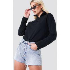 NA-KD Trend Jeansowe spodenki z wysokim stanem - Blue. Niebieskie szorty damskie NA-KD Trend, z bawełny. Za 161.95 zł.