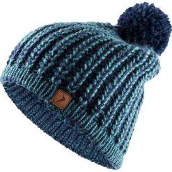 Czapka damska CAD615 - morska zieleń melanż - Outhorn. Zielone czapki i kapelusze damskie Outhorn, ze splotem. Za 34.99 zł.