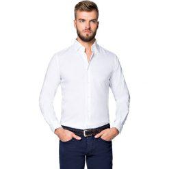 Koszula Biała Giovani. Białe koszule męskie LANCERTO, z bawełny. Za 299.90 zł.