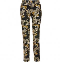 Spodnie ze stretchem i nadrukiem bonprix czarny z nadrukiem. Czarne spodnie materiałowe damskie bonprix, z nadrukiem. Za 129.99 zł.