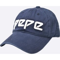 Pepe Jeans - Czapka. Szare czapki i kapelusze damskie Pepe Jeans, z bawełny. W wyprzedaży za 79.90 zł.