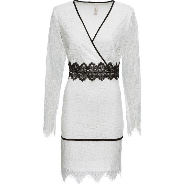 67a14e9fc Sukienka koronkowa bonprix biały - Białe sukienki damskie bonprix, z ...