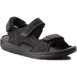 Sandały LANETTI - MSA692-2 Czarny. Czarne sandały męskie Lanetti, z materiału. Za 89.99 zł.