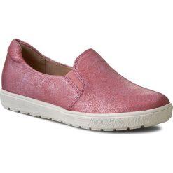 Półbuty CAPRICE - 9-24662-26 Pink Metallic 590. Czerwone półbuty damskie Caprice, z gumy. W wyprzedaży za 169.00 zł.