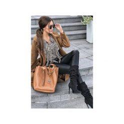 Dwie torebki w cenie jednej MANZANA DUŻA TORBA KLASYCZNA TOREBKA 2W1 KARMELOWA. Brązowe torby na ramię damskie Manzana. Za 119.00 zł.