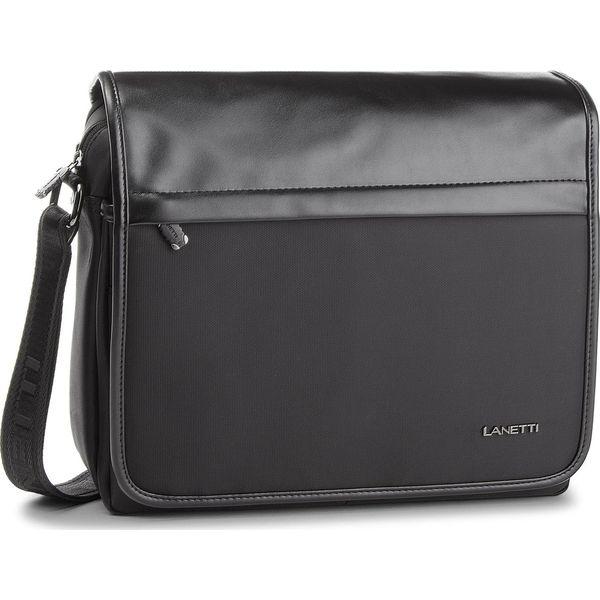 bf07e68da3efe Torba na laptopa LANETTI - RM0360 Black - Torby na laptopa męskie ...