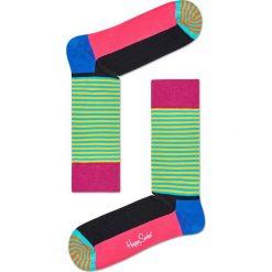 Happy Socks - Skarpetki Half Stripe. Zielone skarpety damskie Happy Socks. Za 39.90 zł.