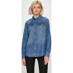 Wrangler - Koszula Western Denim. Szare koszule damskie Wrangler, z denimu, z długim rękawem. Za 259.90 zł.