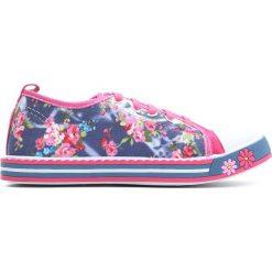 Fuksjowe Trampki Pinky Rings. Różowe buty sportowe dziewczęce Born2be, z materiału. Za 39.99 zł.