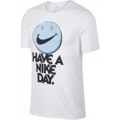 Nike T-Shirt M Nsw Tee Cncpt Blue 3 White Cobalt Tint M. Białe t-shirty i topy dla dziewczynek Nike, z nadrukiem, z bawełny. Za 105.00 zł.