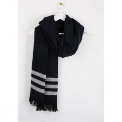 """Szal """"Brirayure"""" w kolorze czarnym - 180 x 60 cm. Czarne szaliki i chusty damskie Scottage, w paski, z wełny. W wyprzedaży za 58.95 zł."""