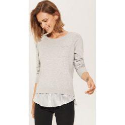 Sweter z koszulą - Jasny szar. Szare koszule damskie House. Za 49.99 zł.