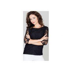 Bluzka K077 Czarny. Czarne bluzki damskie Katrus, w koronkowe wzory, z koronki. Za 89.00 zł.