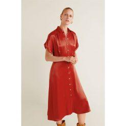 Mango - Sukienka Grenadin. Szare sukienki damskie Mango, z materiału, casualowe, z krótkim rękawem. Za 229.90 zł.