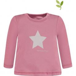 Koszulka w kolorze jasnoróżowym. Czerwone bluzki dla dziewczynek bellybutton, z nadrukiem, z bawełny, z okrągłym kołnierzem, z długim rękawem. W wyprzedaży za 32.95 zł.