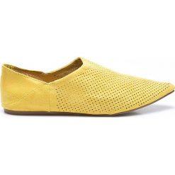 Answear - Baleriny Chc-Shoes. Żółte baleriny damskie ANSWEAR, z materiału. W wyprzedaży za 59.90 zł.