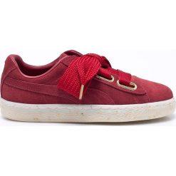 Puma - Buty Suede Heart Celebrate. Czerwone obuwie sportowe damskie Puma, z materiału. W wyprzedaży za 359.90 zł.