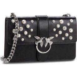 Torebka PINKO - Love Leather Pearls Tracolla Al 18-19 PLTT 1P216H Y4YB Black Z99. Czarne torebki do ręki damskie Pinko, ze skóry. Za 1,639.00 zł.