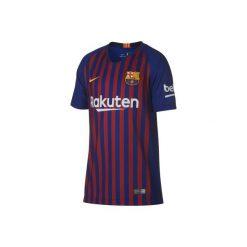 Koszulka krótki rękaw do piłki nożnej Barcelona. Niebieskie t-shirty damskie Nike. Za 309.99 zł.