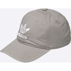 Adidas Originals - Czapka. Szare czapki i kapelusze damskie adidas Originals, z bawełny. W wyprzedaży za 69.90 zł.