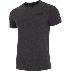 T-shirt męski  TSM002 - ciemny szary melanż. Szare t-shirty męskie 4f, na lato, melanż, z bawełny. W wyprzedaży za 34.99 zł.