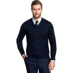 Sweter FABRIZIO SWGR000134. Białe swetry przez głowę męskie Giacomo Conti, na jesień, z bawełny, z klasycznym kołnierzykiem. Za 149.00 zł.